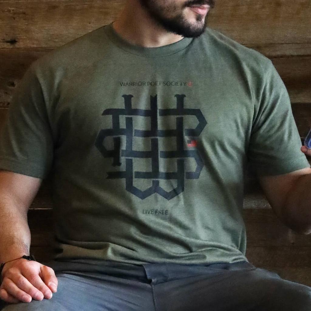 WPS Monogram T-Shirt - Green/Black