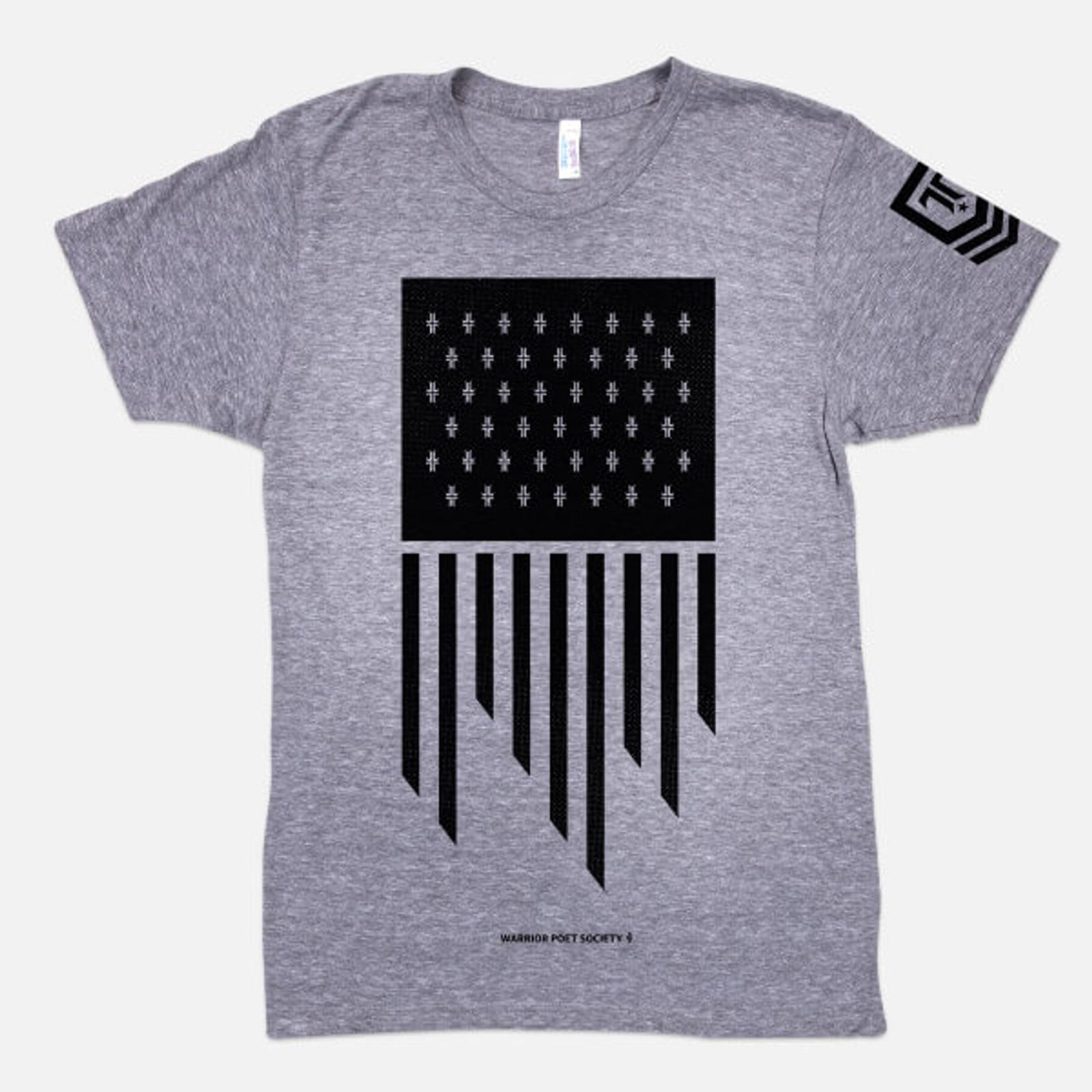 Flag T-Shirt - Grey / Black