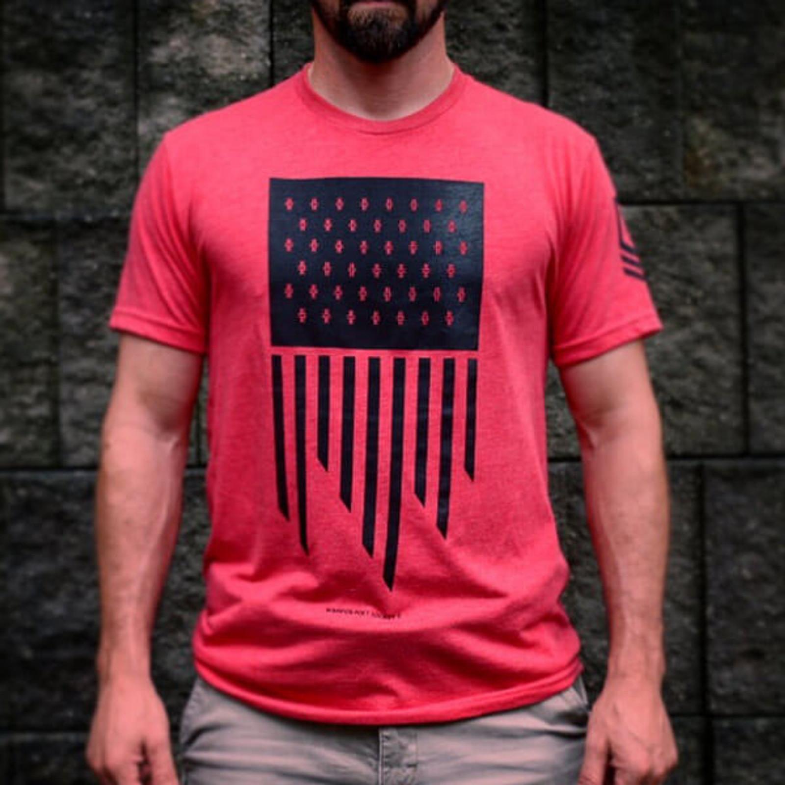 Flag T-Shirt - Red / Black