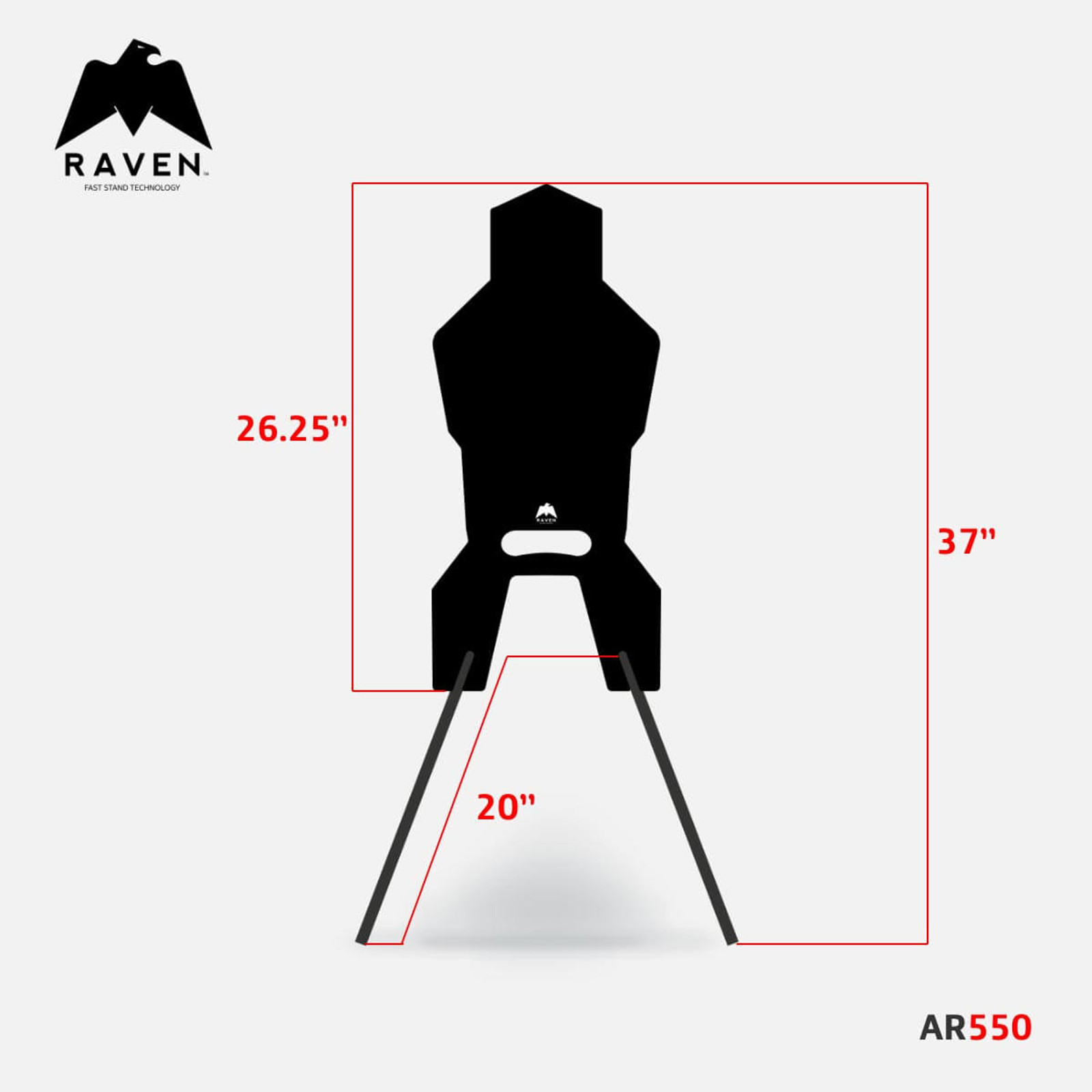 RAVEN AR550 Steel Target Stand