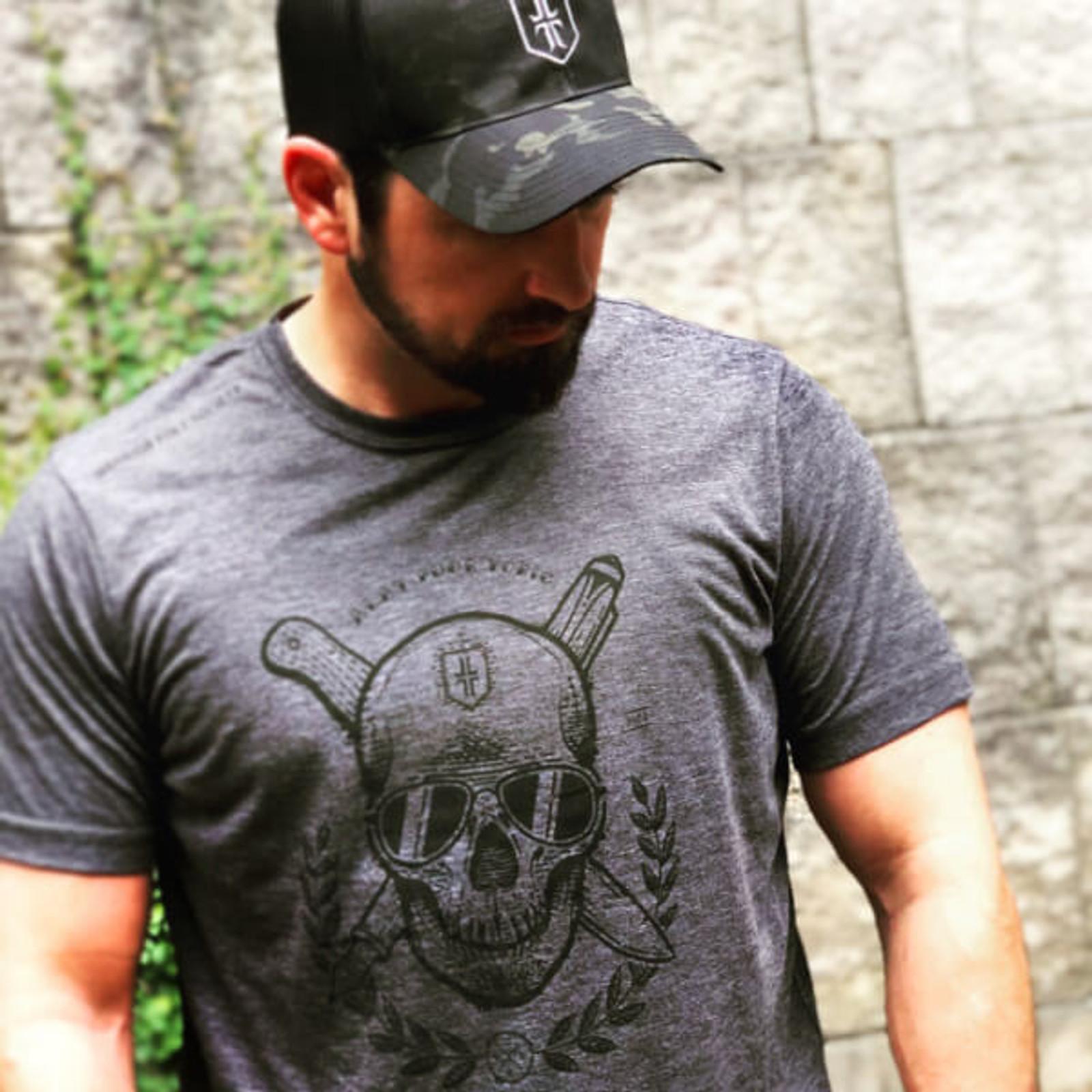 Skull T-Shirt - Dark Grey / Black