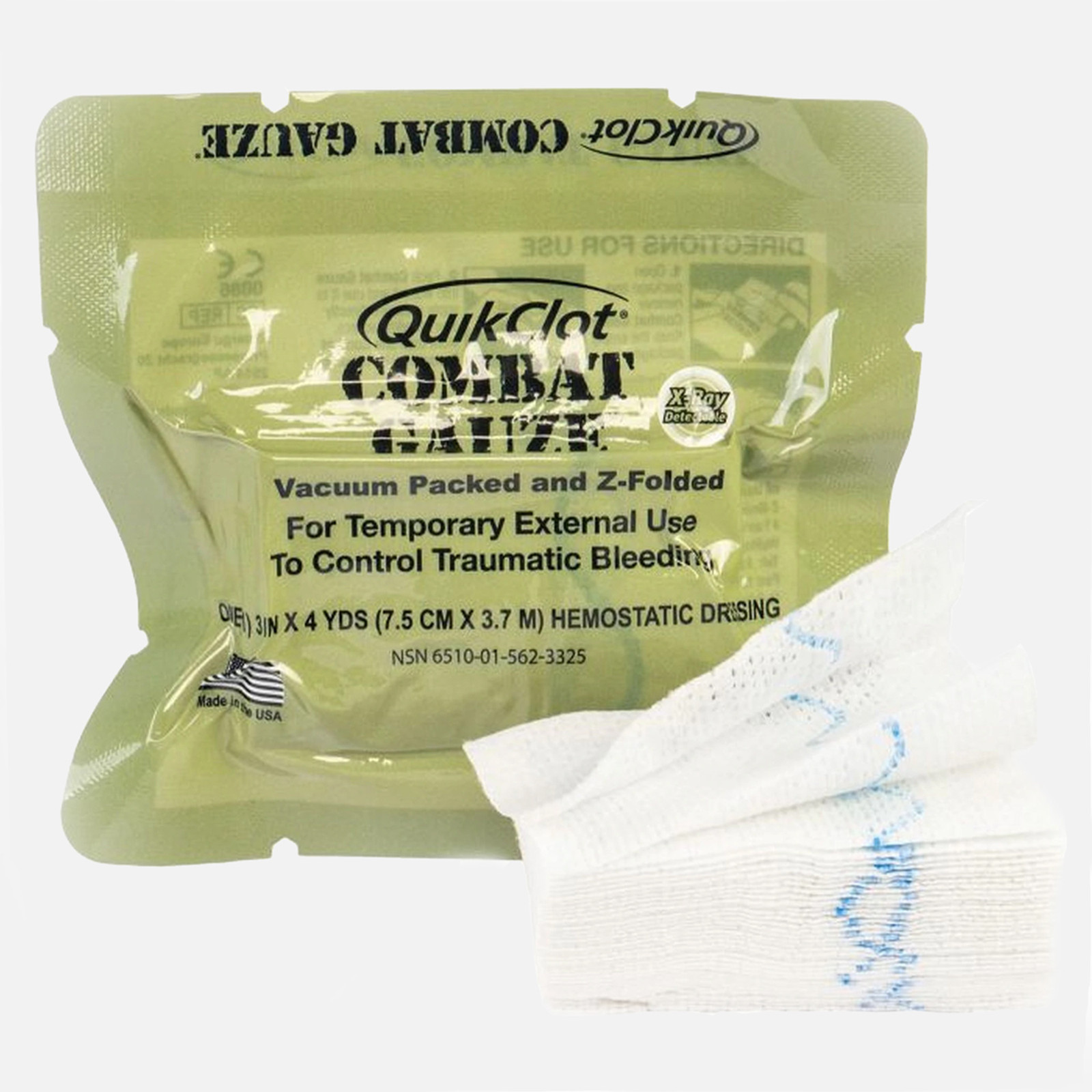 QuikClot Combat Gauze Z-fold Hemostatic - NAR