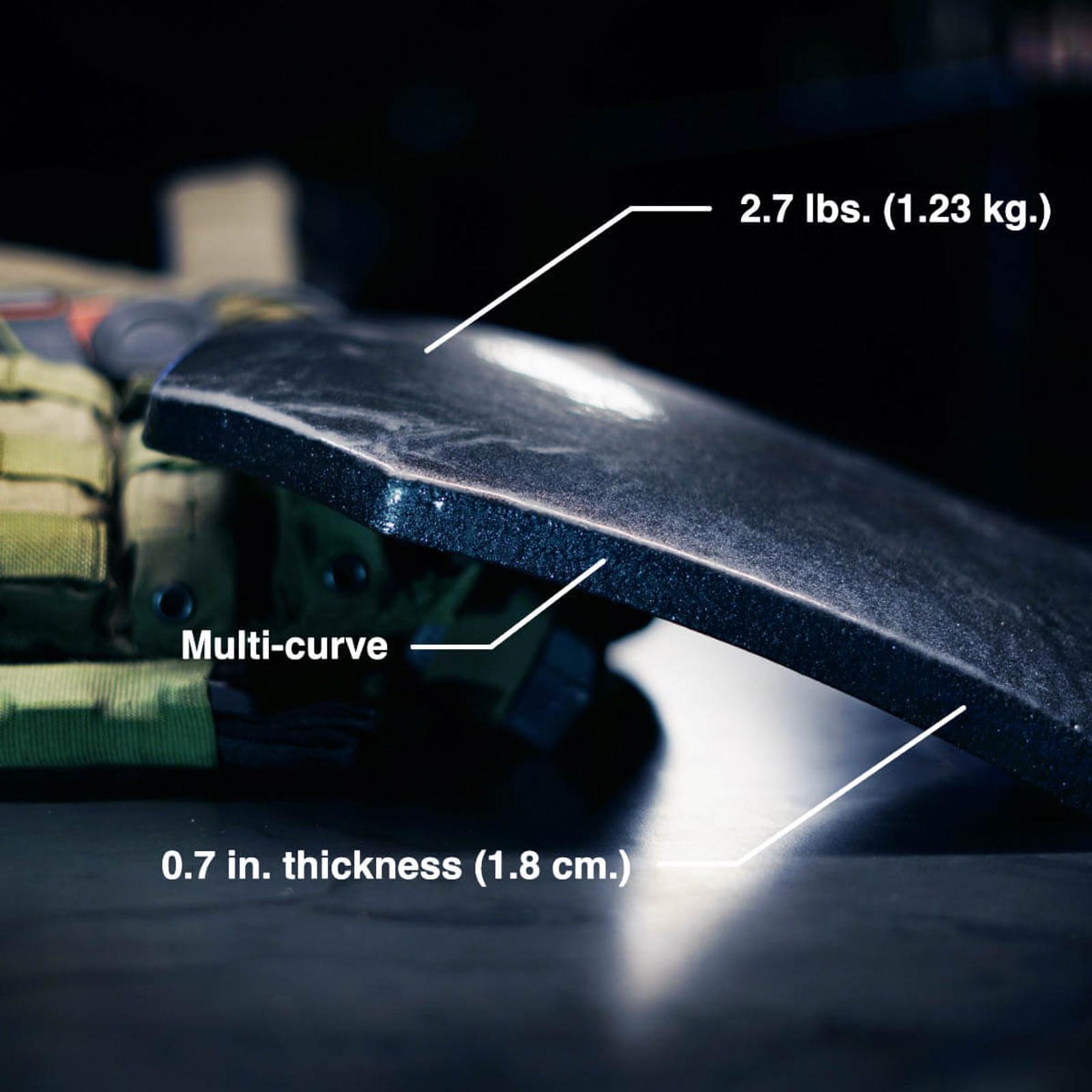 Duritium III+PA Body Armor Plate Multicurve