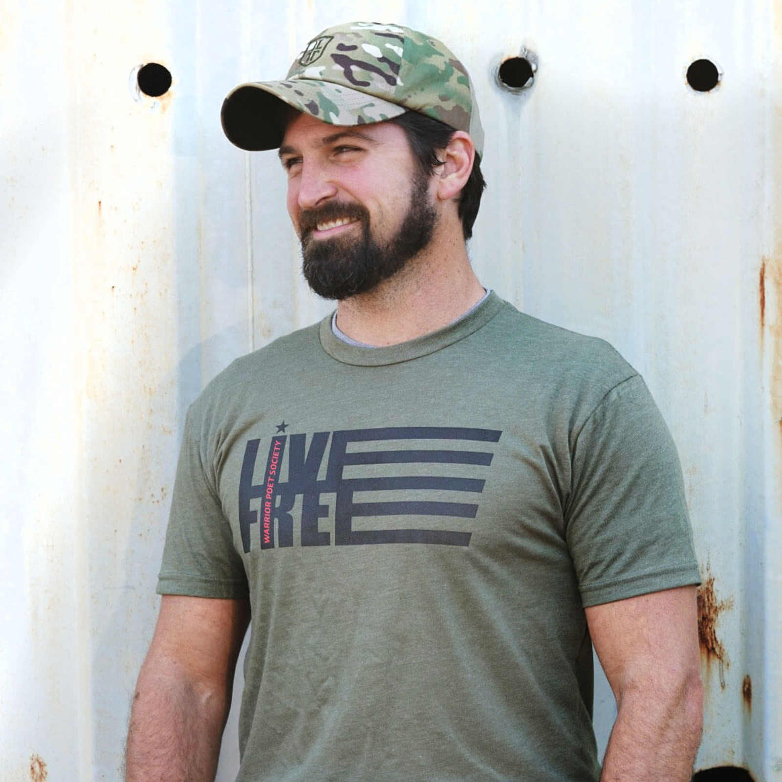 Live Free T-Shirt - Green / Black