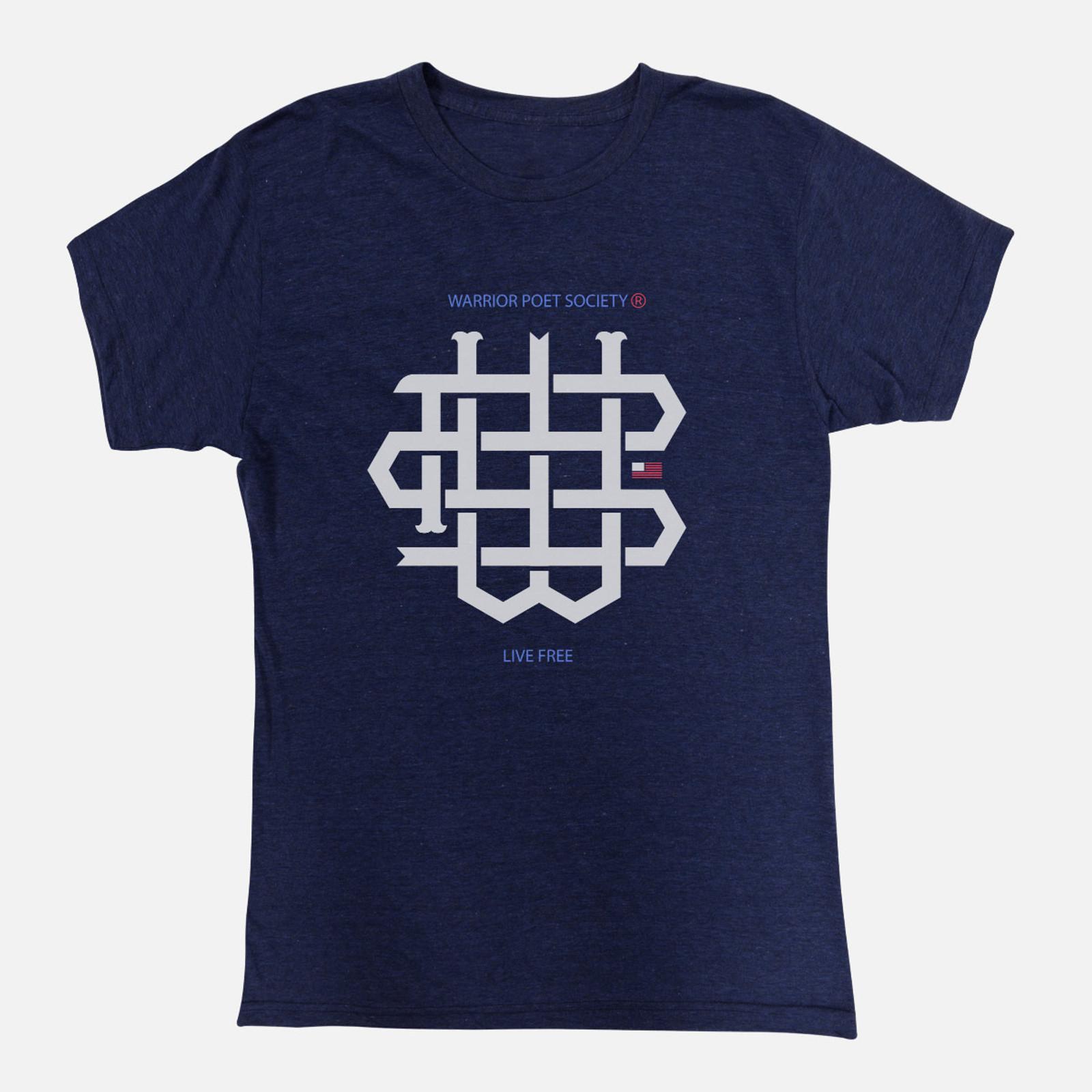 WPS Monogram T-Shirt - Navy/White