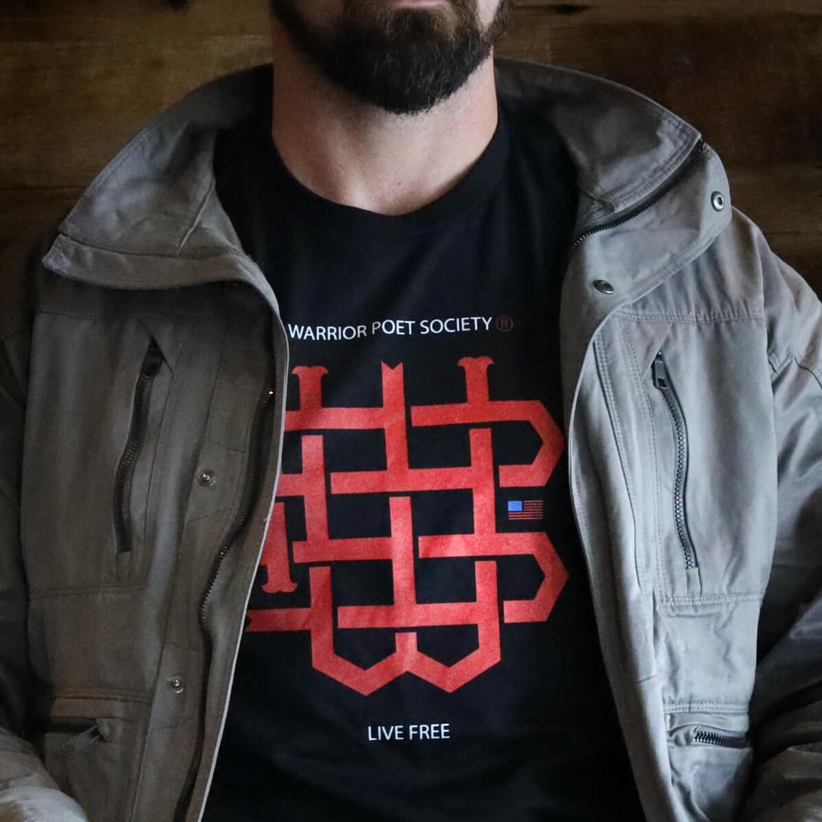 WPS Monogram T-Shirt - Black/Red