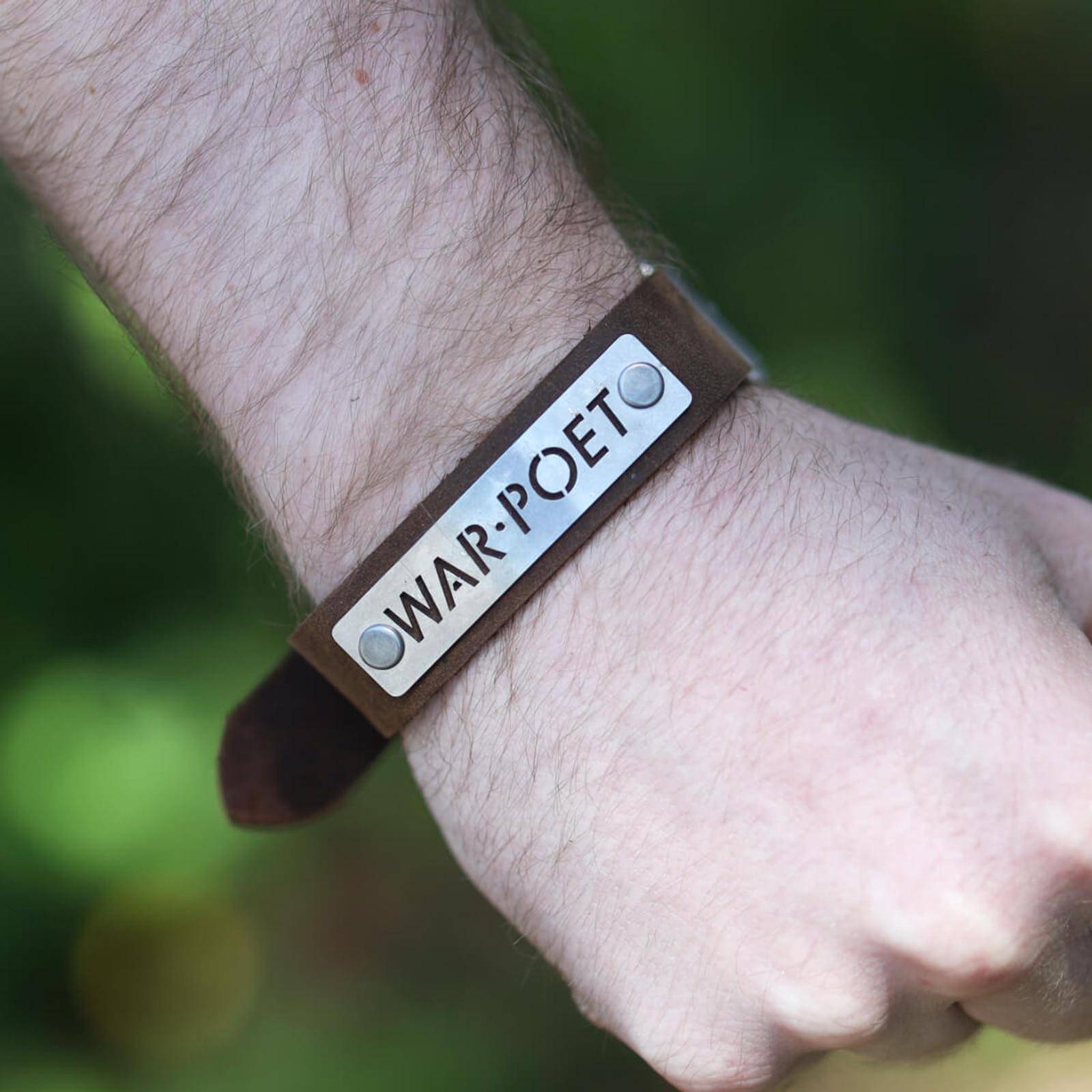 War Poet Leather Bracelet