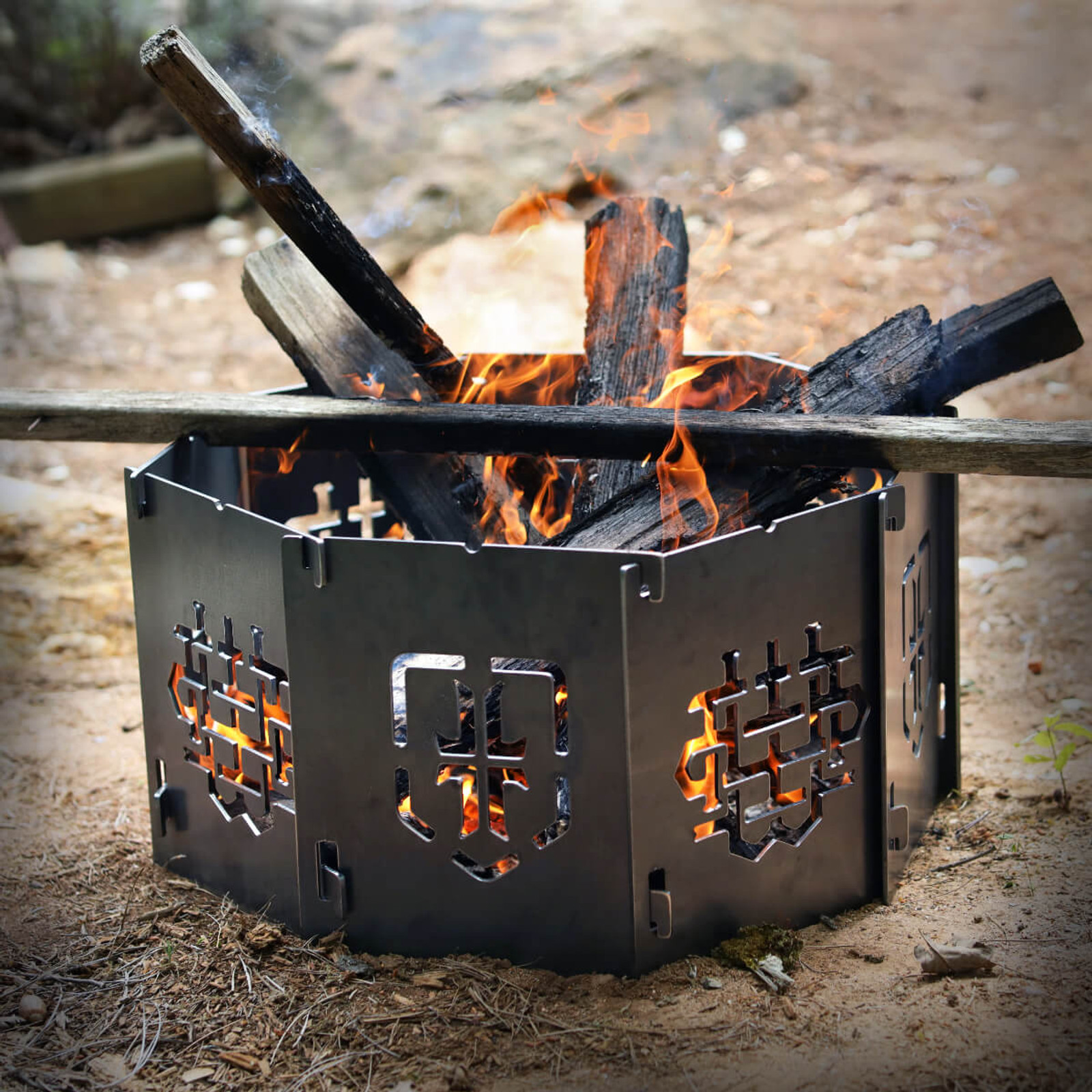 WPS Octagon - Firebox (No Grate or Skillet)