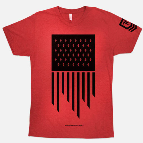 Flag T-Shirt - Red / Black