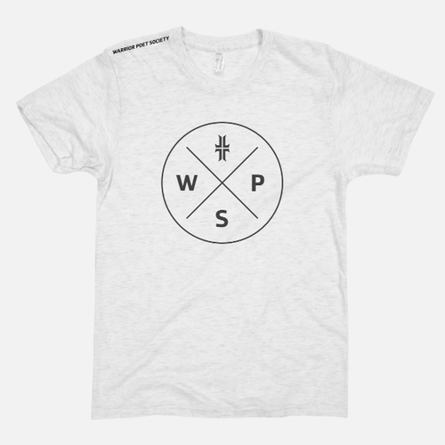 Badge T-Shirt - White / Black