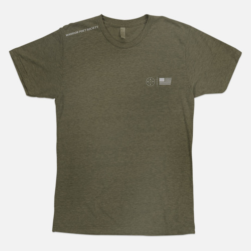 Flag & Badge T-Shirt - Green / Grey