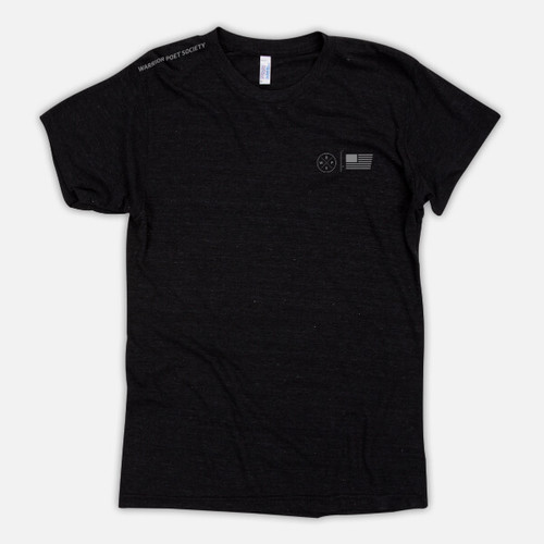 Flag & Badge T-Shirt - Black / Grey
