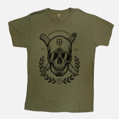 Skull T-Shirt - Green / Black