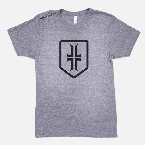 Shield T-Shirt - Heather Grey / Black