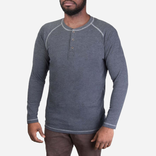 Action Henley - Heather Charcoal - Vertx