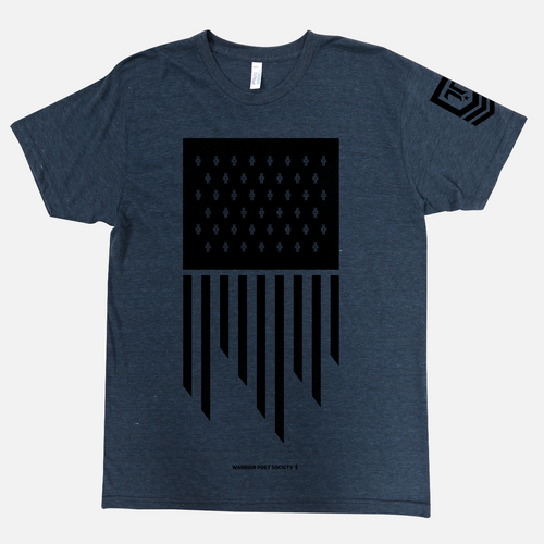 Flag T-Shirt in Navy / Black