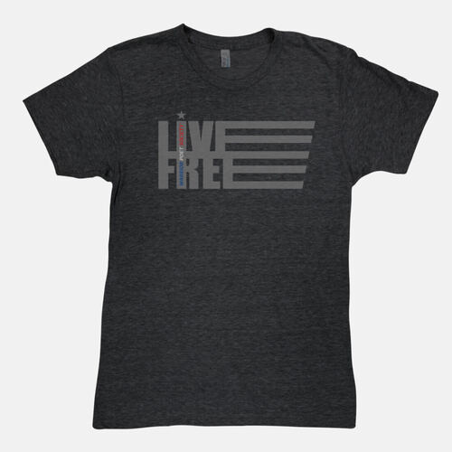 Live Free T-Shirt - Dark Grey / Light Grey