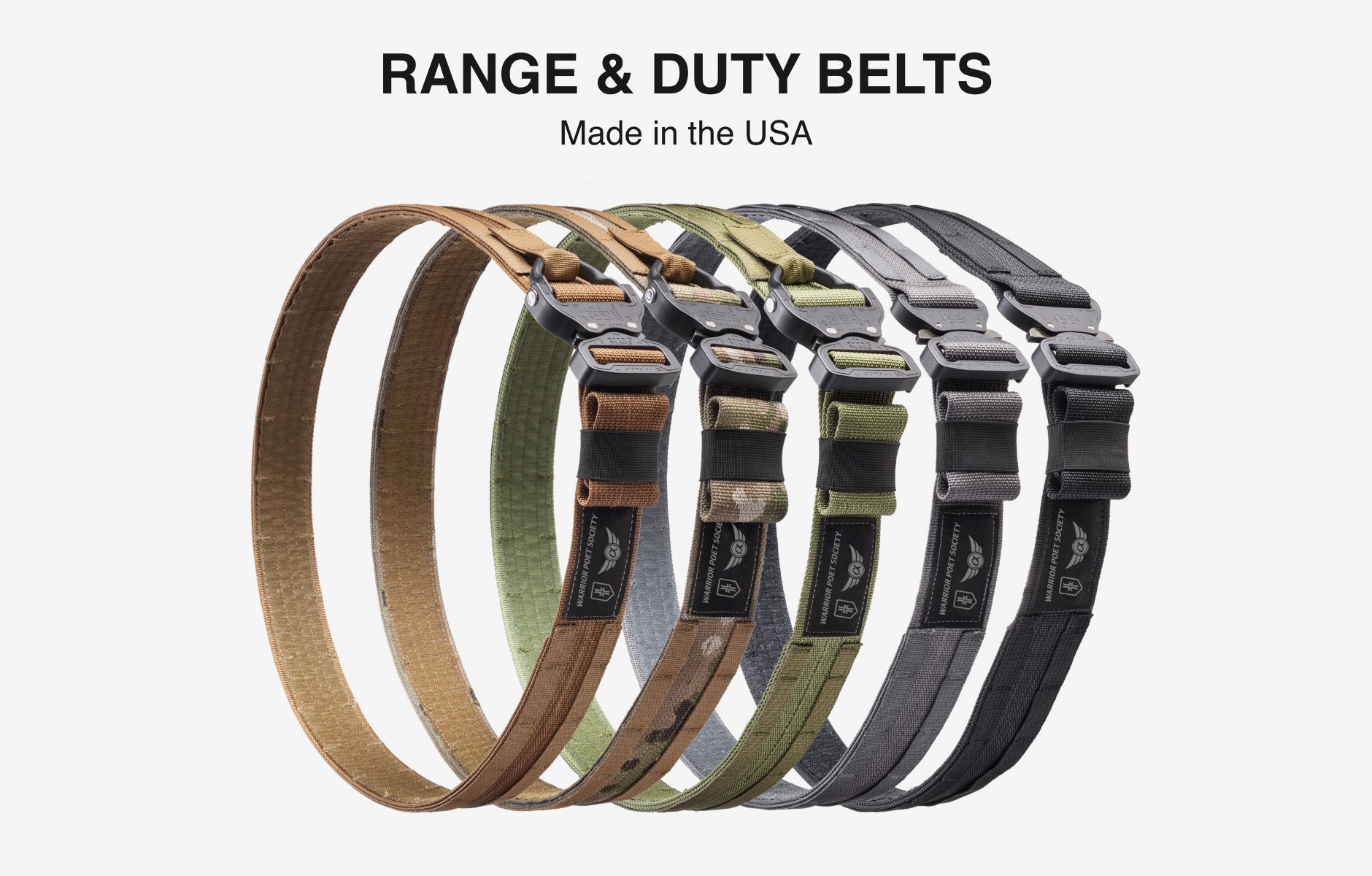 Warrior Poet Society Range and Duty Belts