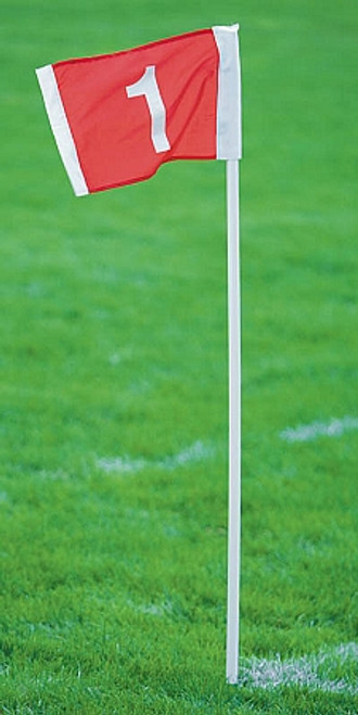 Official Corner Flags: Spring Base with Field Numbers