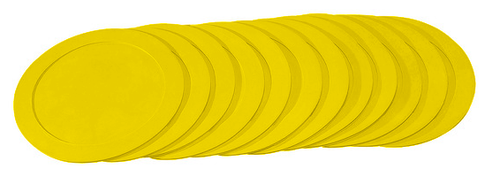 10-inch Poly Spot Markers:  YELLOW (Set of 12)