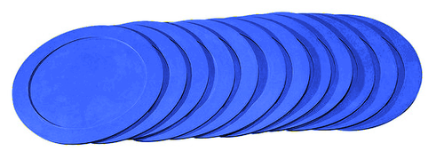 10-inch Poly Spot Markers:  BLUE (Set of 12)