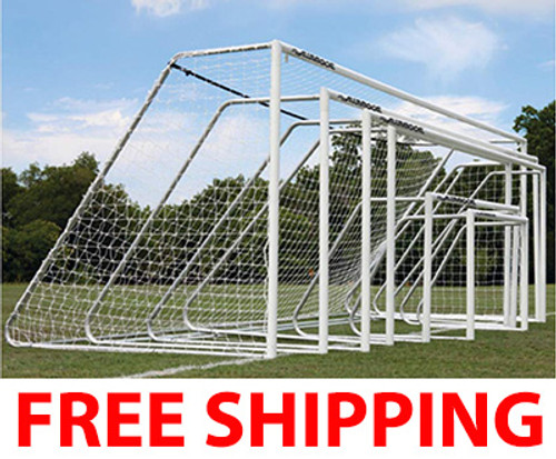 Alumagoal Club Series Soccer Goals: 7' x 21' (PAIR)