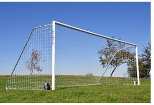 Economy Aluminum Soccer Goals: 6.5' x 18.5' (PAIR) with Net Channel