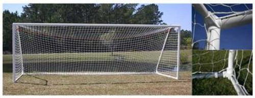 PEVO Channel Series Soccer Goals: 8' x 24' (PAIR)