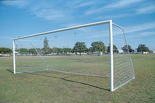 Economy Aluminum Soccer Goals: 8' x 24' (PAIR)