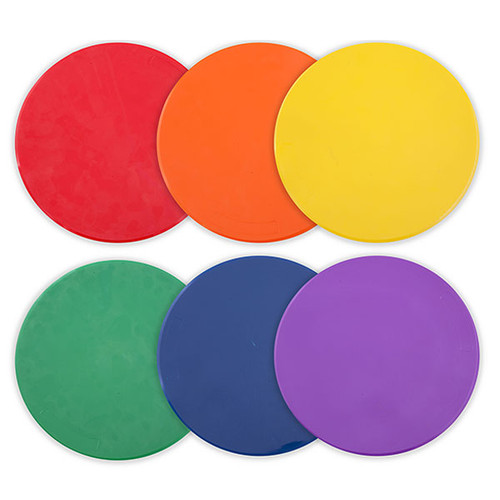 10-inch Poly Spot Markers (Set of 6)