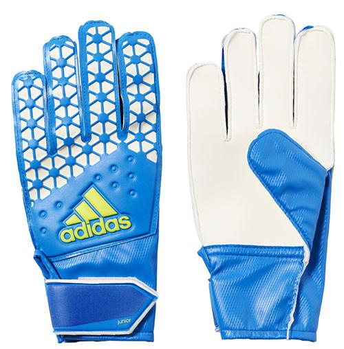 size 40 7635f 00ef0 Adidas Ace Junior Goal Keeper Gloves: Blue