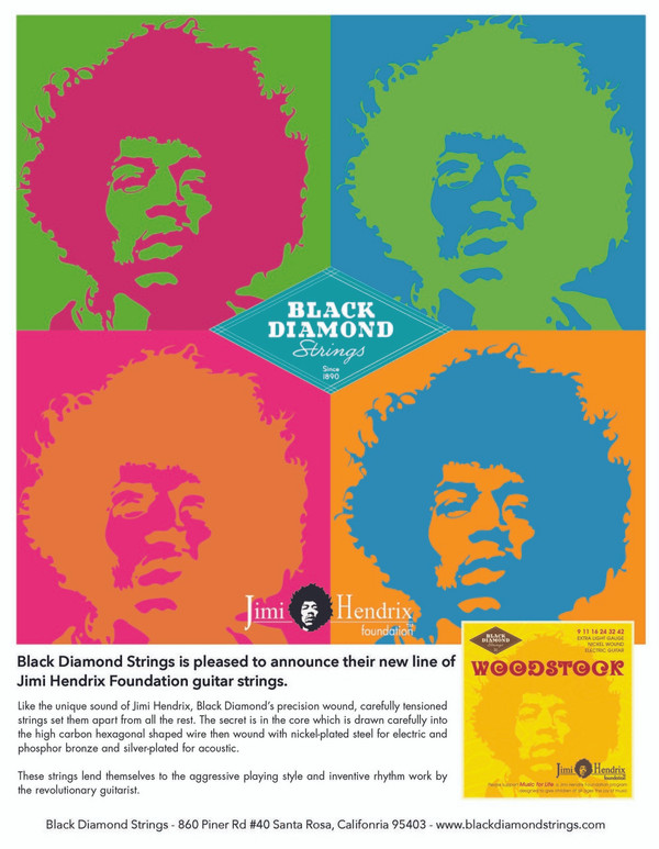 "Jimi Hendrix Foundation ""Music For Life"" Strings"