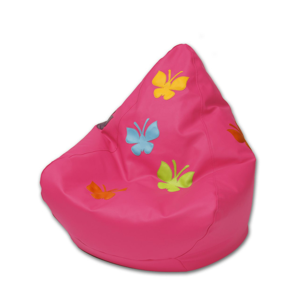 Butterfly Bean Bag in flamingo