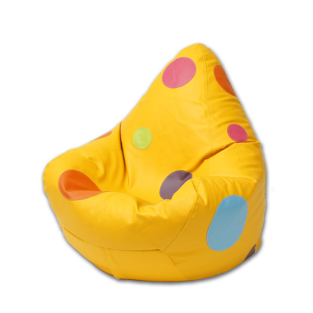Spotty Bean Bag in canary