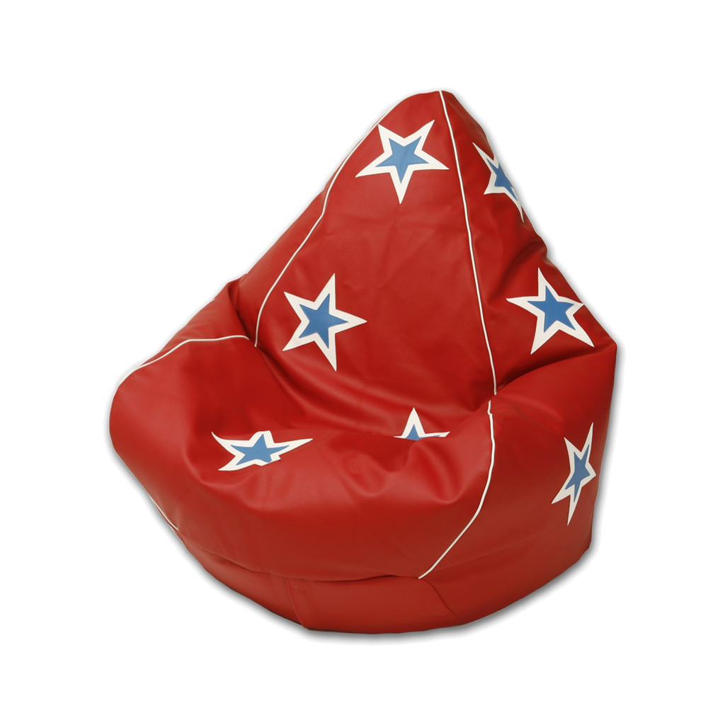 Evel Knievel Bean Bag in Paprika Red