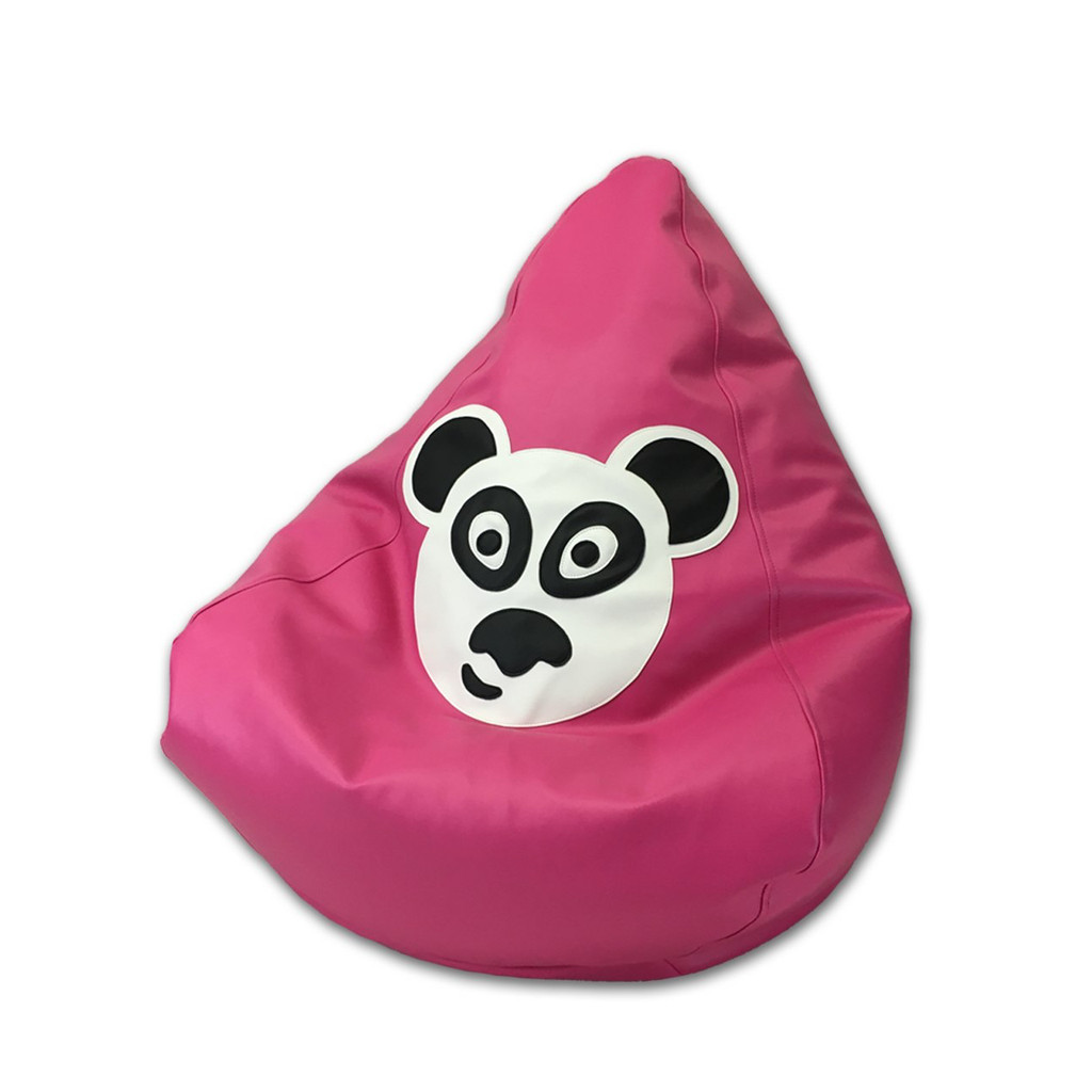 Panda Bean Bag in flamingo