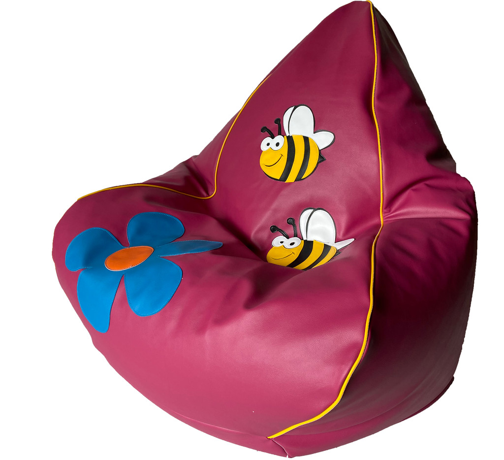 Busy Bee Bean Bag in flamingo