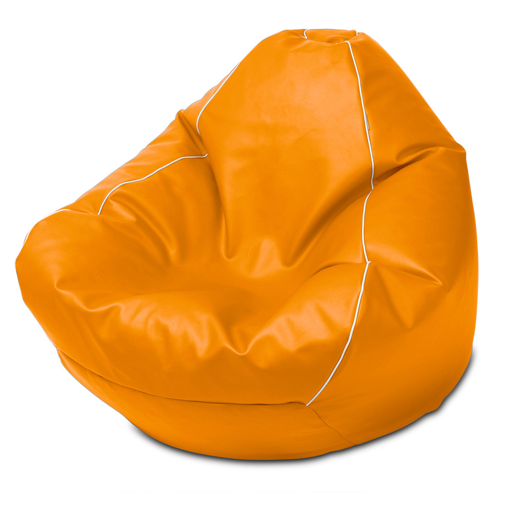 Retro Queen Size Bean Bag in orange