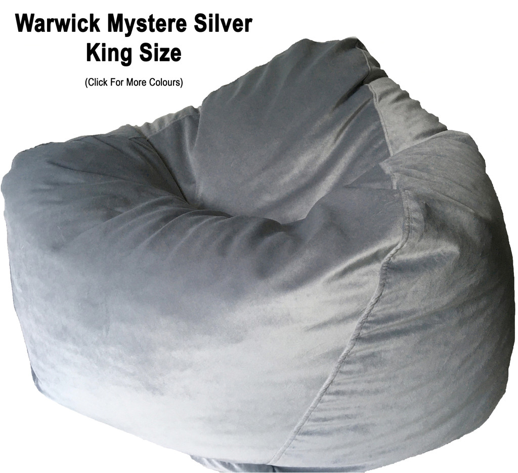 Warwick Mystere Velvet King Bean Bag in assorted colours