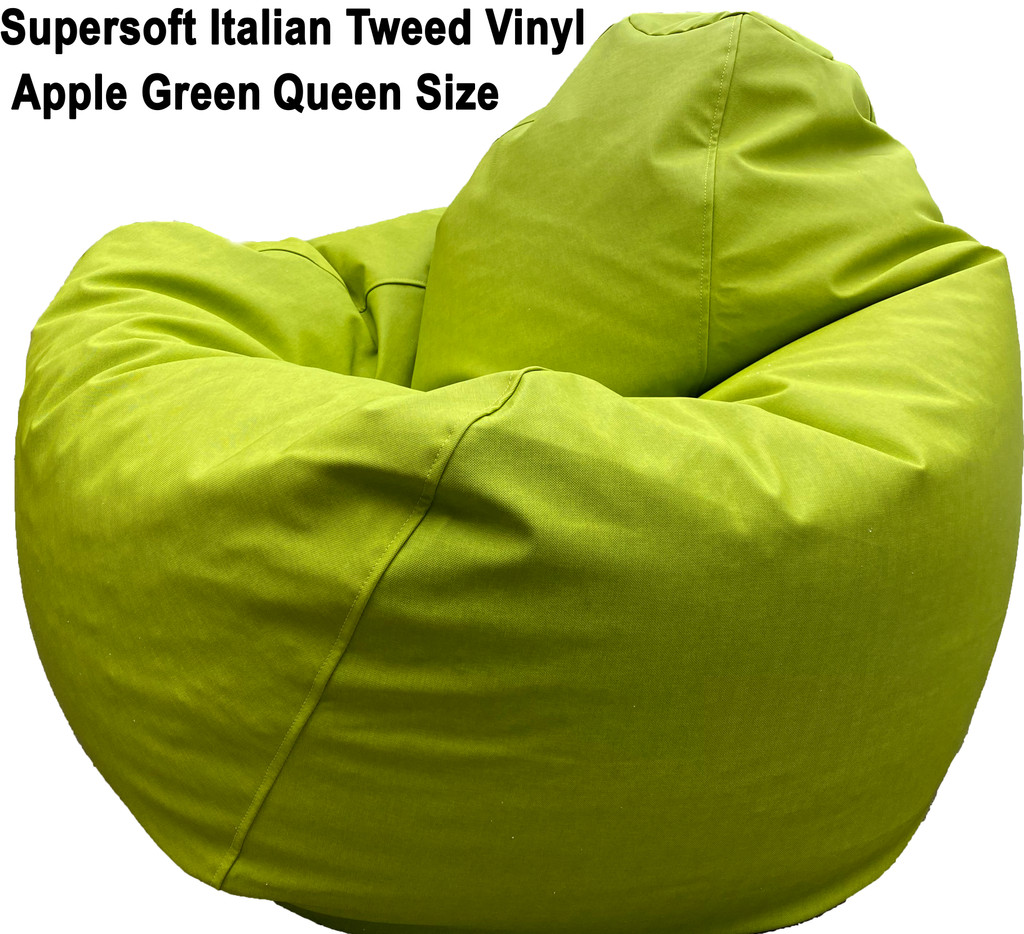 Supersoft Italian Tweed Vinyl Queen in Green