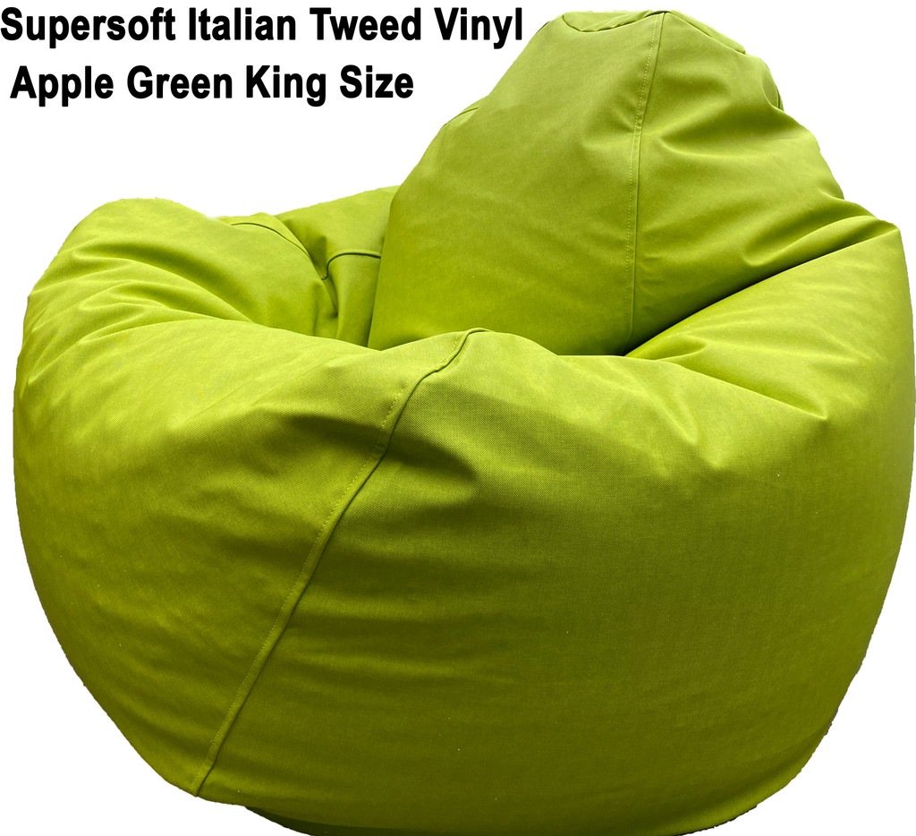 Supersoft Italian Tweed Vinyl King In Green