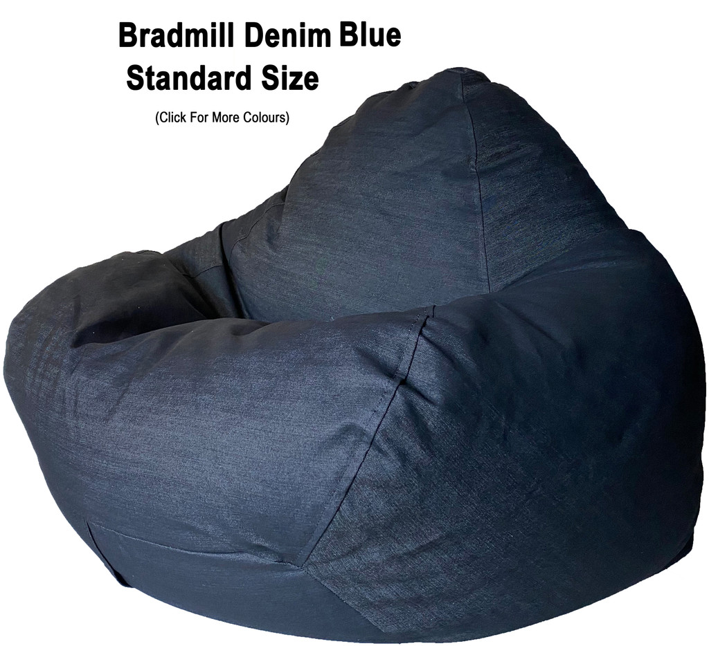 Bradmill Denim Standard Bean Bag in Blue