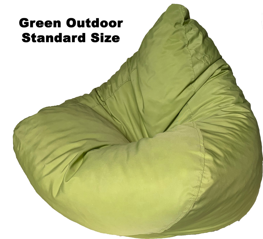 OUTDOOR GREEN WATERPROOF BEANBAG STANDARD SIZE