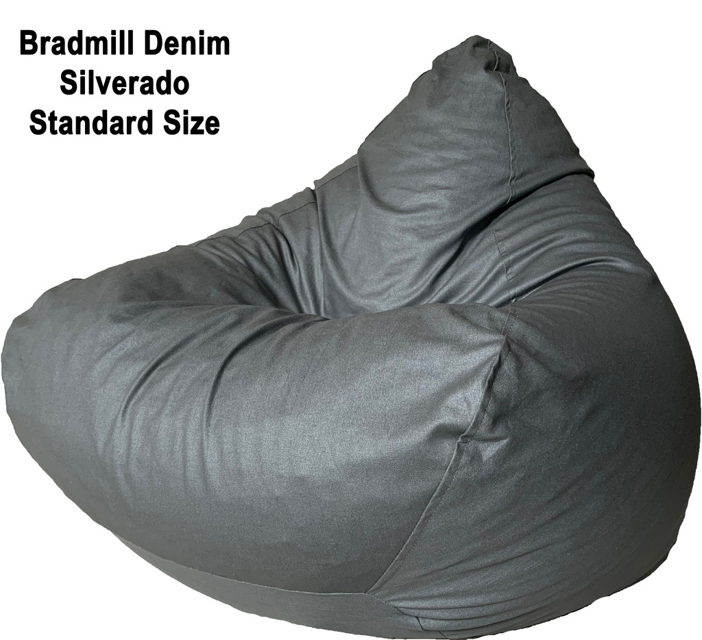 Bradmill Denim Standard Bean Bag in Silver
