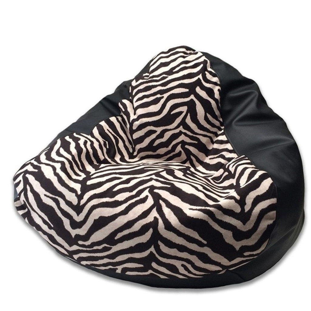 Warwick Zebra King Front Bean Bag in black