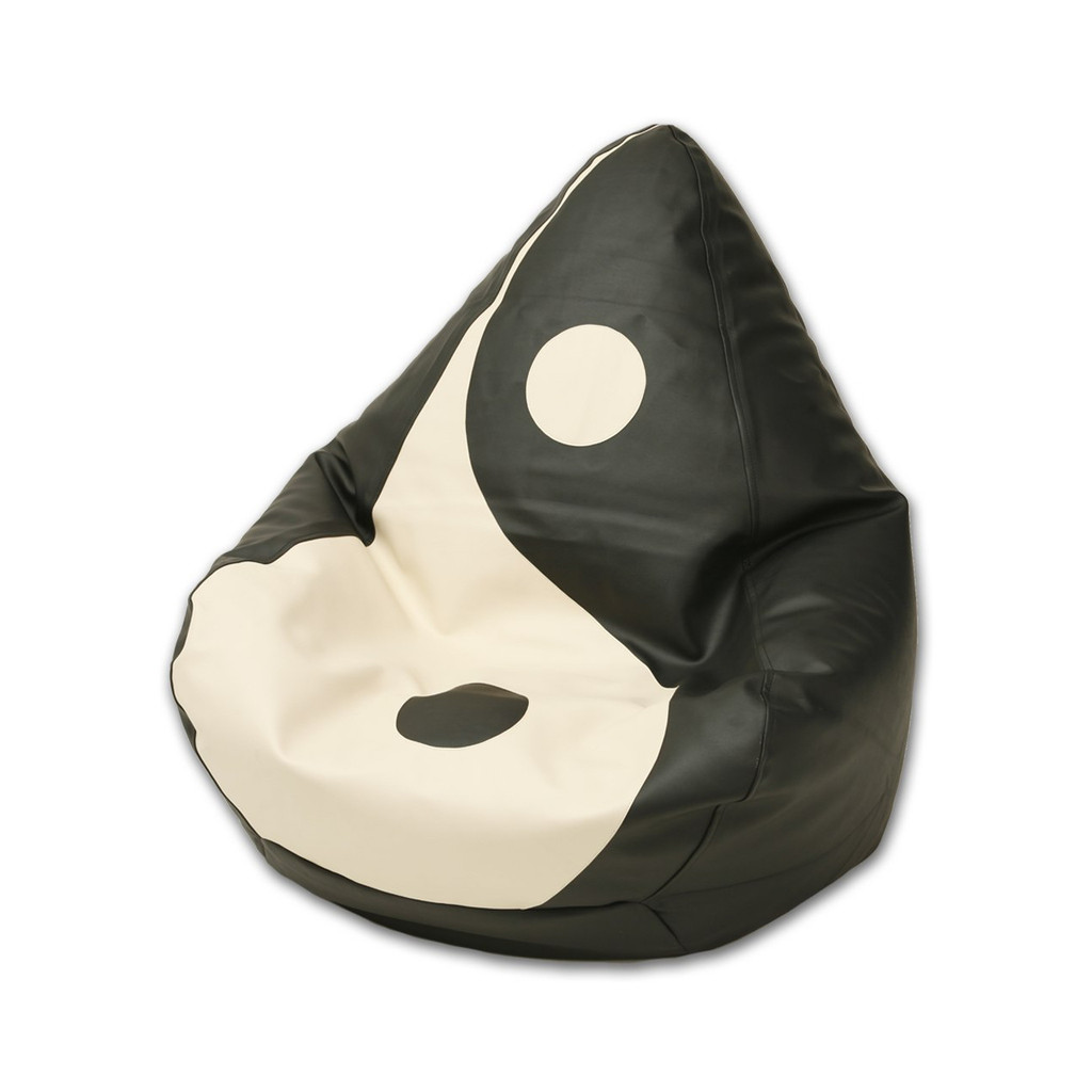 Yin Yang Bean Bag in black