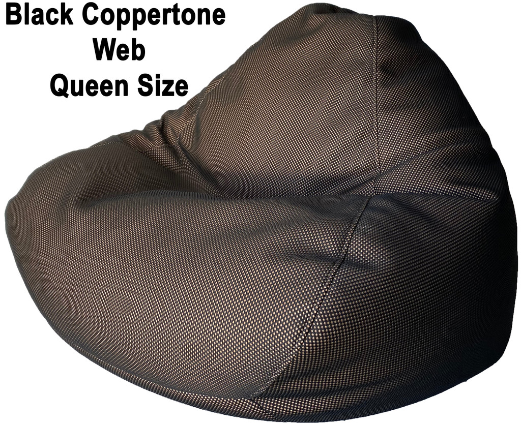Black Coppertone Web Queen Size