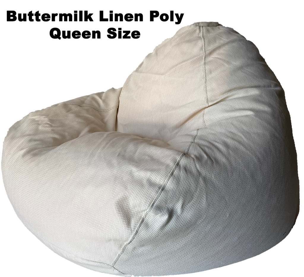 Buttermilk Linen Poly Queen Size
