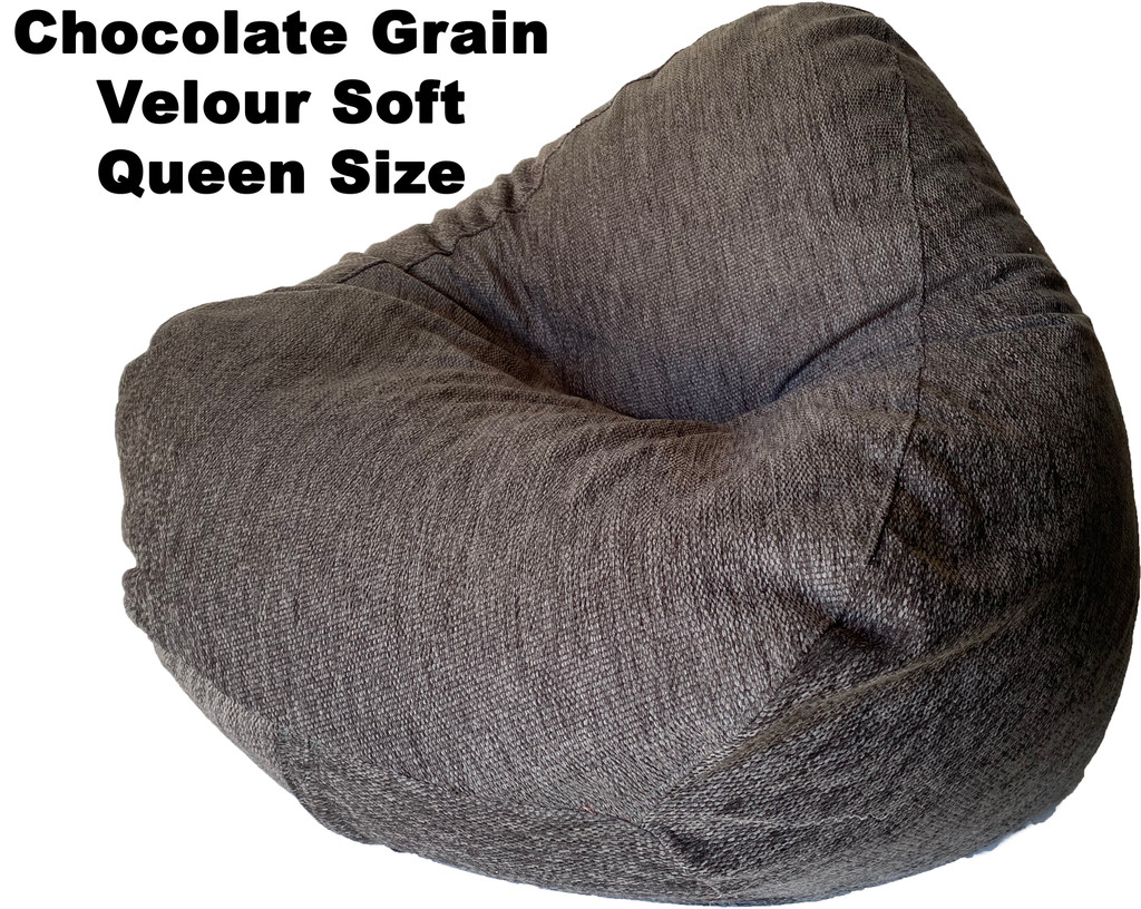 Chocolate Grain Velour Soft Queen Size