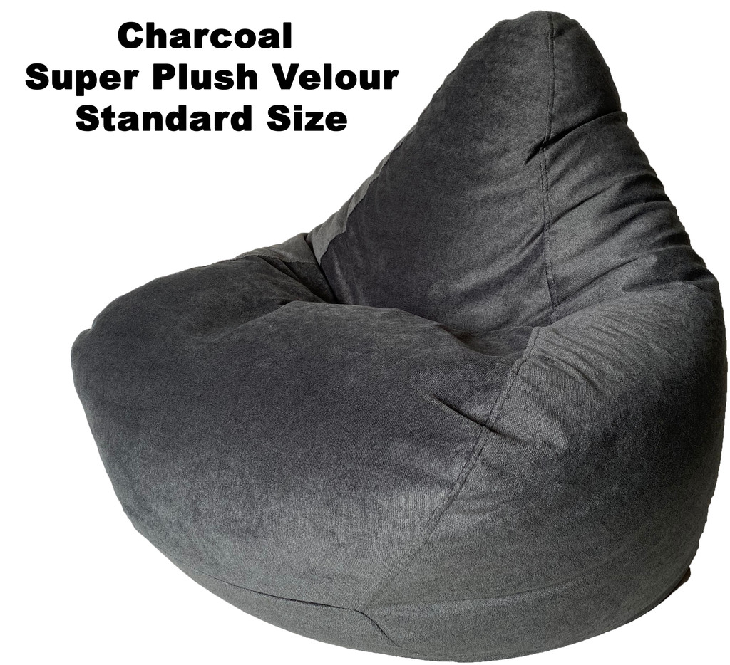 Charcoal Super Plush Velour Standard Size